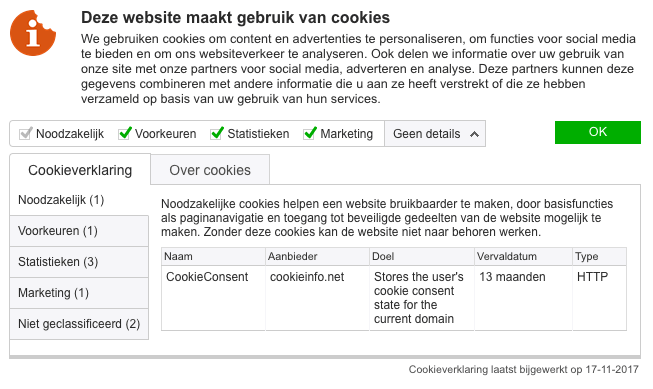 Cookies en Websites
